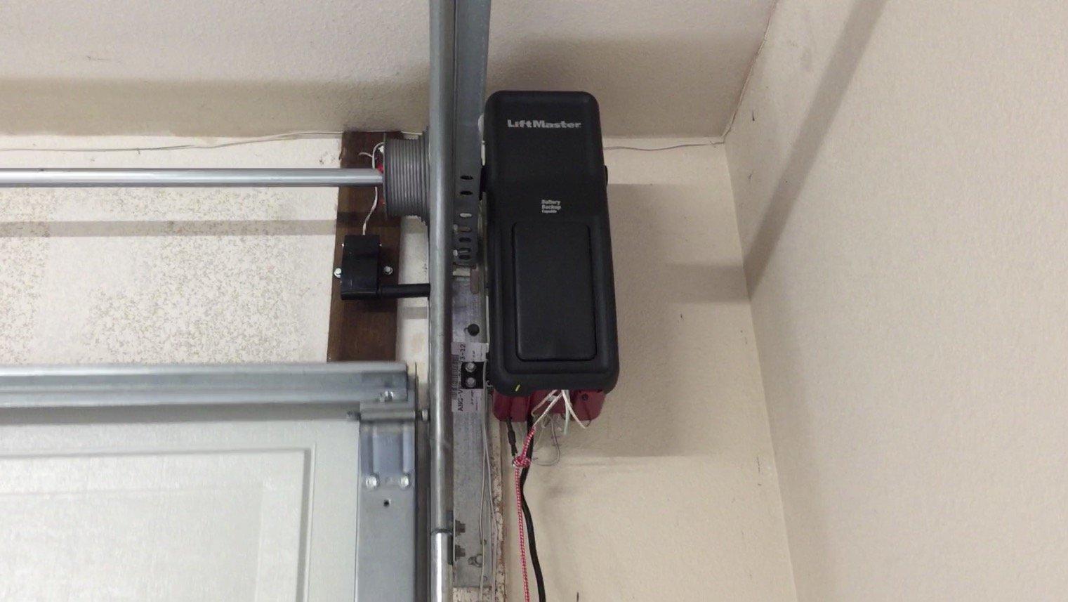 High Lift Garage Door With Liftmaster Jackshaft   San Diego Garage Door  Repair